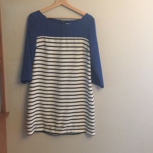Striped shift dress